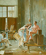 Students in the Studio of David (after Cochereau)